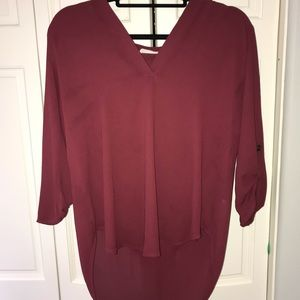 Lush red/maroon colored blouse